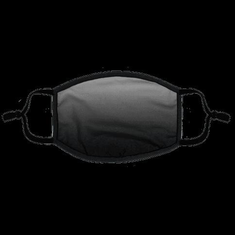 Grayscale Dark Flat Face Mask