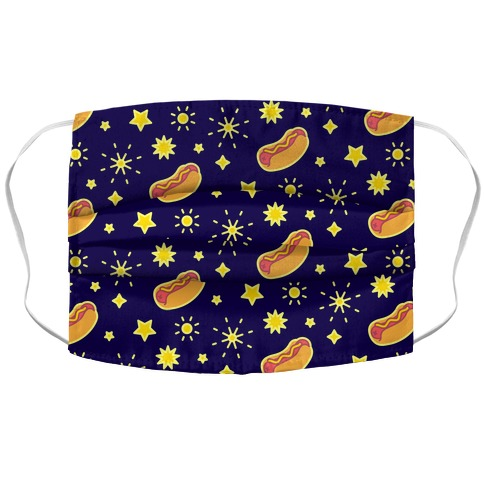 Star Spangled Weenies Accordion Face Mask