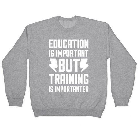 Education Is Important But Training Is Importanter Pullover