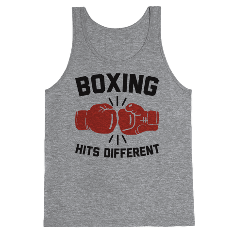 Boxing Hits Different Tank Top