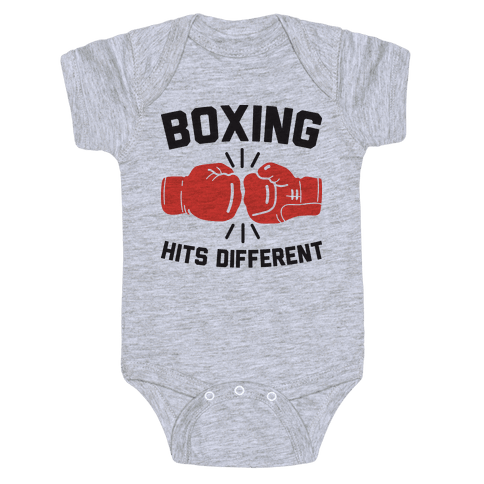 Boxing Hits Different Baby One-Piece