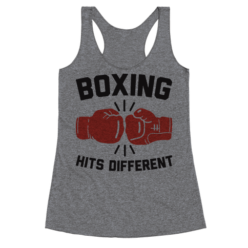Boxing Hits Different Racerback Tank Top