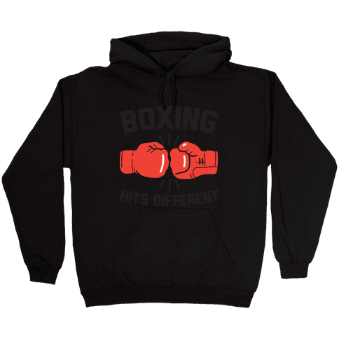 Boxing Hits Different Hooded Sweatshirt