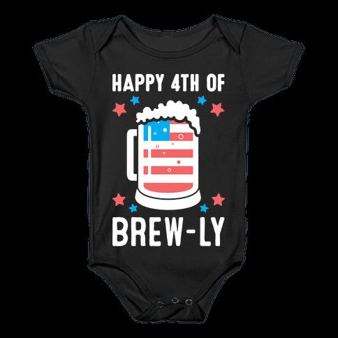 Happy 4th of Brew-ly Baby Onesy