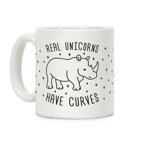 Real Unicorns Have Curves Coffee Mug