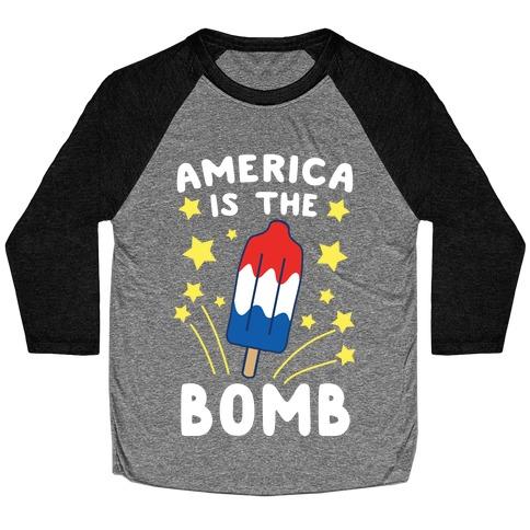 America is the Bomb - Pop Baseball Tee