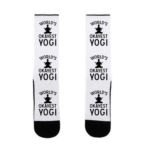 World's Okayest Yogi Sock