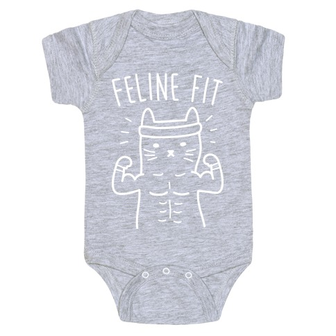 Feline Fit (White) Baby Onesy