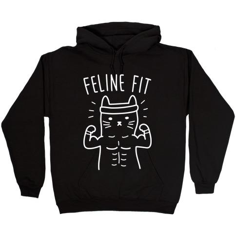 Feline Fit (White) Hooded Sweatshirt