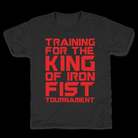 Training For The King of Iron Fist Tournament Parody White Print Kids T-Shirt