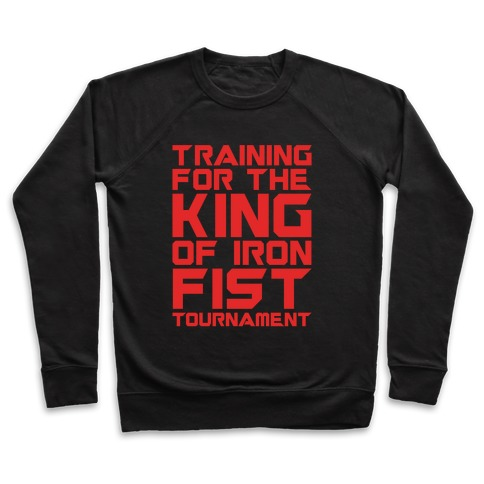 Training For The King of Iron Fist Tournament Parody White Print Pullover