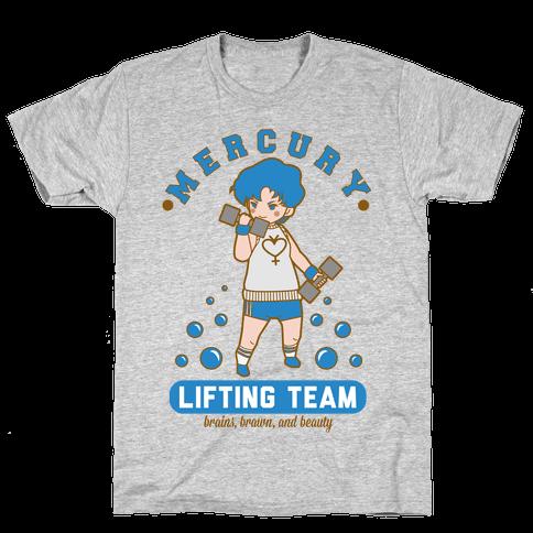 Mercury Lifting Team Parody White Mens T-Shirt