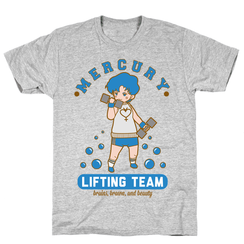 Mercury Lifting Team Parody White Mens T-Shirt