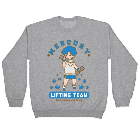 Mercury Lifting Team Parody White Pullover
