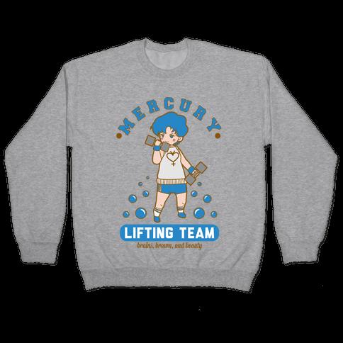Mercury Lifting Team Parody White Pullover