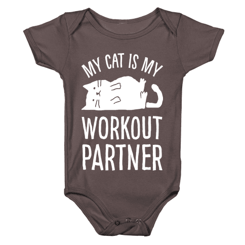 My Cat Is My Workout Partner Baby One-Piece