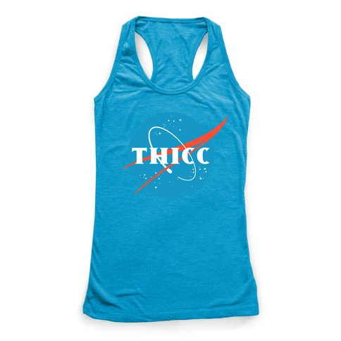 THICC NASA Parody Racerback Tank Top