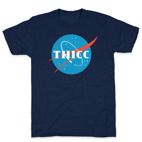 THICC NASA Parody Mens T-Shirt