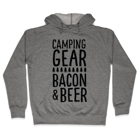 Camping Gear, Bacon, & Beer Hooded Sweatshirt