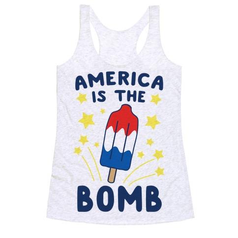 America is the Bomb - Pop Racerback Tank Top
