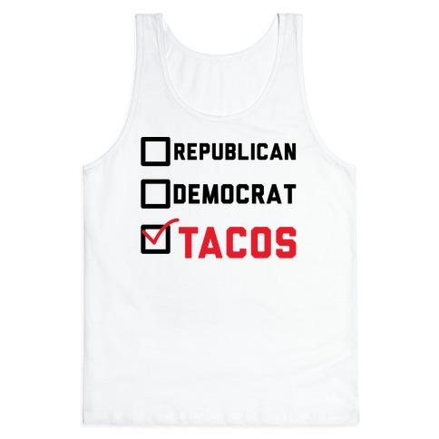 Republican Democrat Tacos Tank Top
