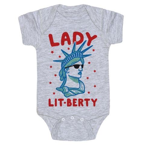 Lady Lit-berty Baby Onesy