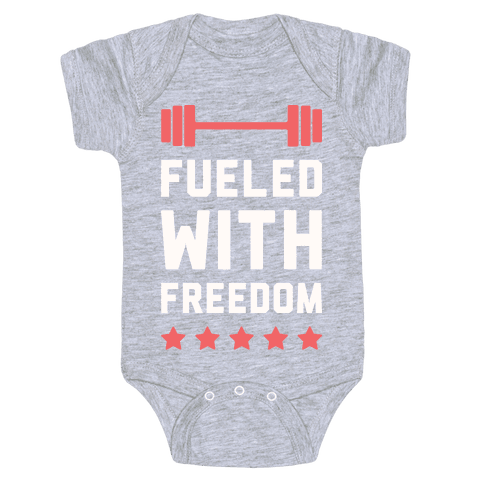 Fueled With Freedom Baby Onesy