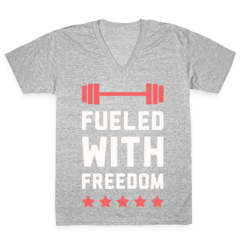 Fueled With Freedom V-Neck Tee Shirt