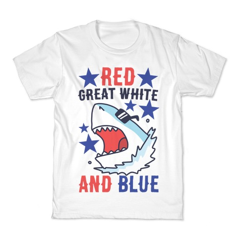 Red, Great White and Blue Kids T-Shirt