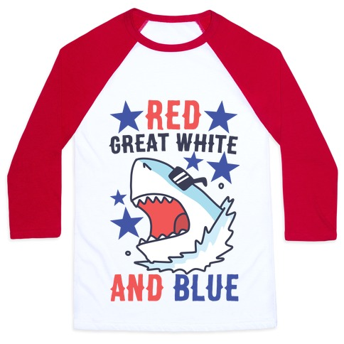 Red, Great White and Blue Baseball Tee