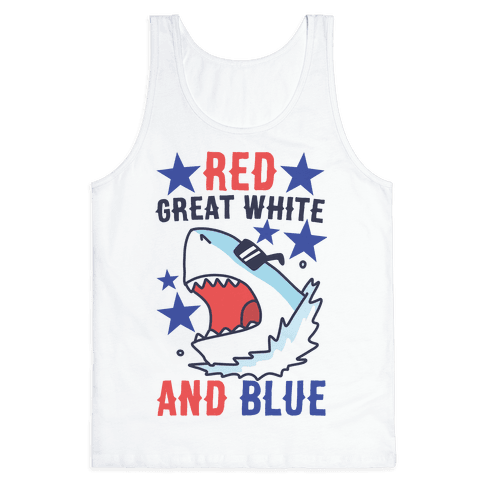 Red, Great White and Blue Tank Top