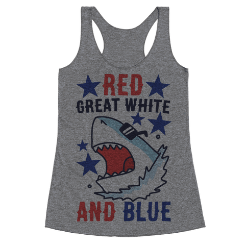 Red, Great White and Blue Racerback Tank Top