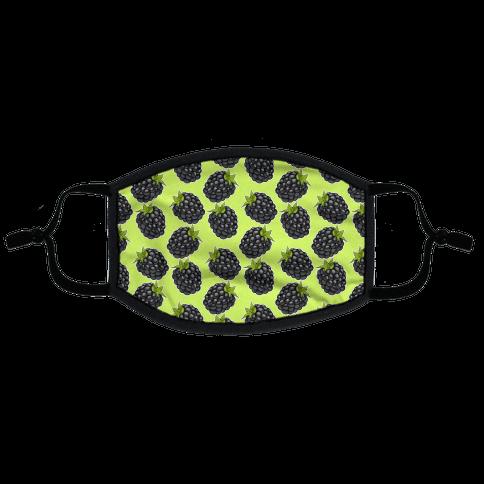 Blackberry Pattern Green Flat Face Mask