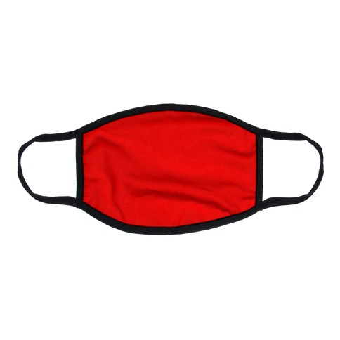 Red Flat Face Mask
