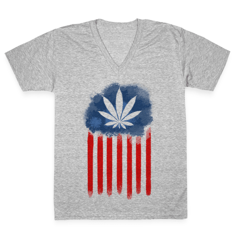 In Weed We Trust V-Neck Tee Shirt