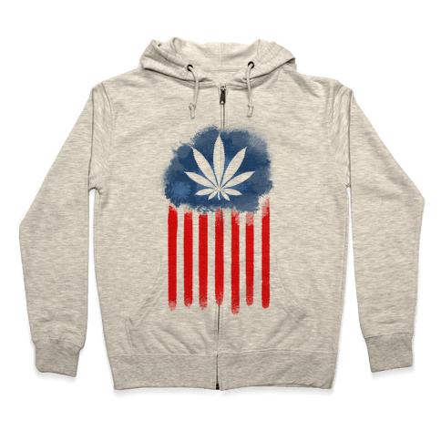 In Weed We Trust Zip Hoodie