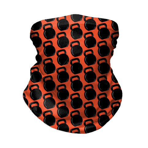 Kettlebell Pattern (Red Background) Neck Gaiter