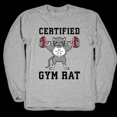 Certified Gym Rat Long Sleeve T-Shirt