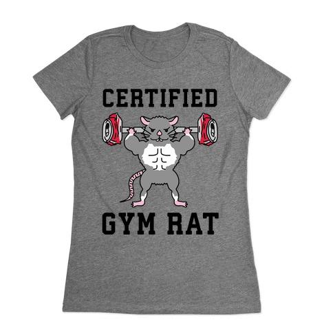 Certified Gym Rat Womens T-Shirt