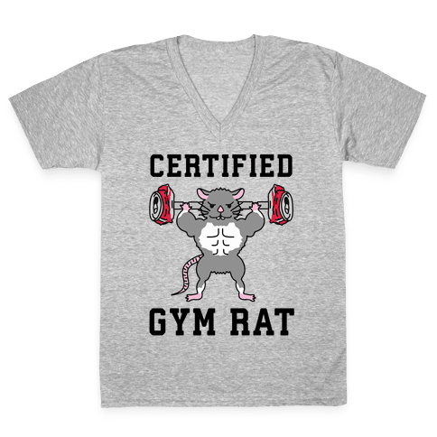 Certified Gym Rat V-Neck Tee Shirt