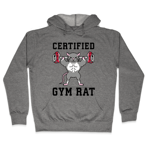 Certified Gym Rat Hooded Sweatshirt
