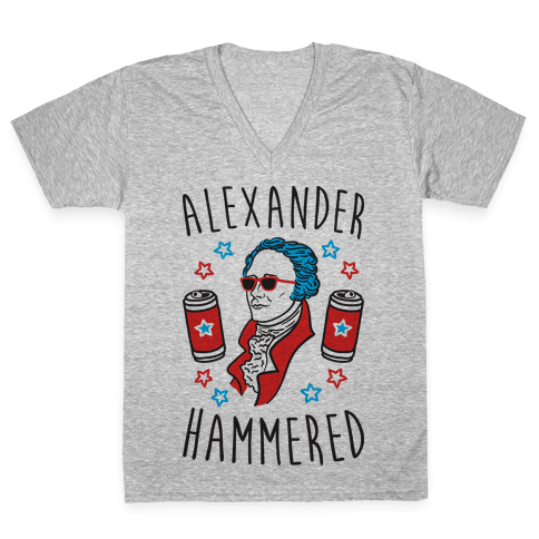 Alexander Hammered V-Neck Tee Shirt