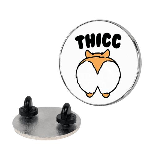 Thicc Corgi Butt Parody pin
