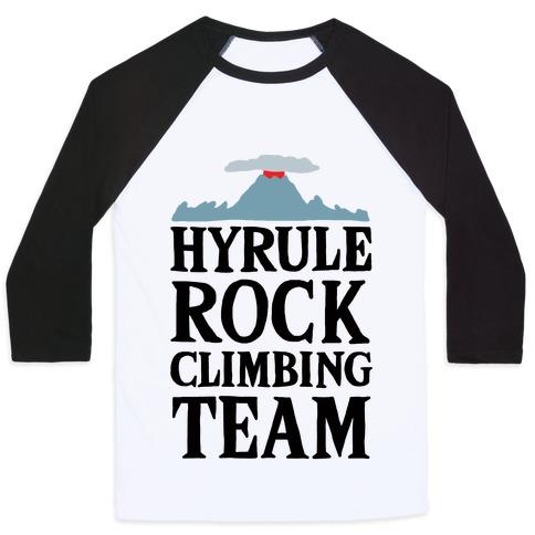 Hyrule Rock Climbing Team Baseball Tee