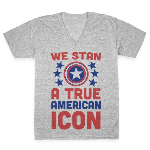 We Stan a True American Icon V-Neck Tee Shirt