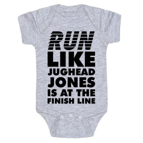 Run Like Jughead is at the Finish Line Baby Onesy