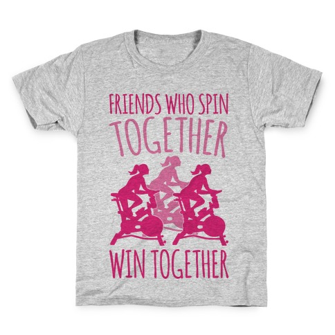 Friends Who Spin Together Win Together Kids T-Shirt