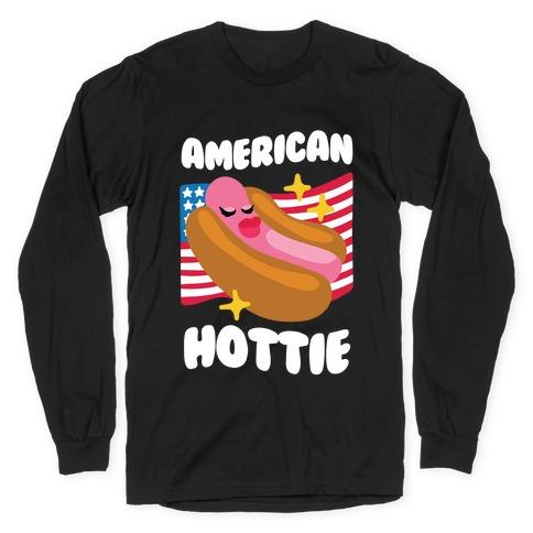 American Hottie (Hot Dog) Long Sleeve T-Shirt