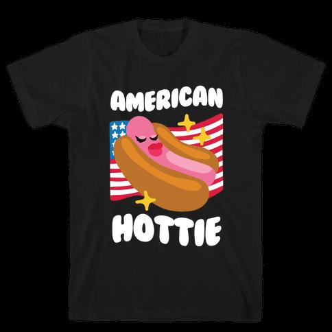 American Hottie (Hot Dog) Mens/Unisex T-Shirt