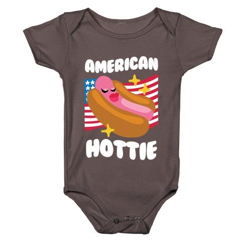 American Hottie (Hot Dog) Baby One-Piece